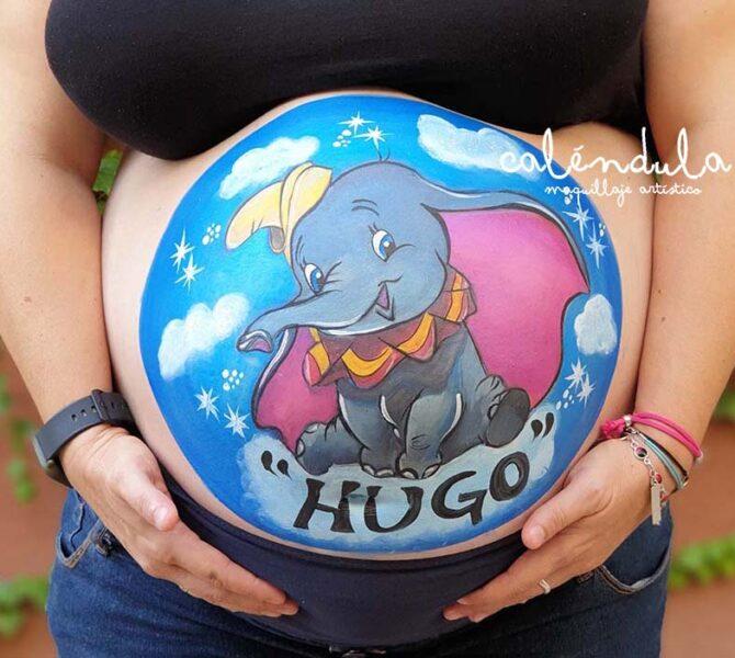 Belly painting para embarazadas Dumbo