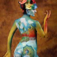 Body paint impresionismo detras
